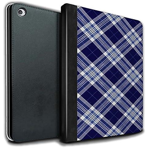 Stuff4 PU Cuero Funda/Carcasa/Folio Libro en Para el Apple iPad Air 2 tablet / serie: Picnic Tartán Diseño - Azul