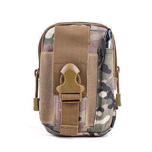 Telefono Tela Sport Tasche Di Svago Di Alpinismo Degli Uomini CHT Tasche 17 * 11 * 6 Centimetri Colore Opzionale,Black CPcamouflage
