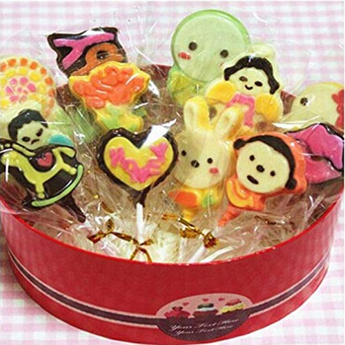 Cookie Tools - Chocolate Biscuit Lollipop Favor Candy Cello Bags Cellophane 100pcs - Buffet Bags Gift Caramels Wrappers Patricks Candy Cellophane Tubes Hearts Ties Valentines Wrap Cello (Chocolate Buffet Candy)