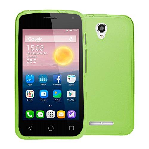 Pixi-gel (TBOC® Grün Gel TPU Hülle für Alcatel One Touch Pixi First - Pixi 1st (4.0 Zoll) Ultradünn Flexibel Silikonhülle)