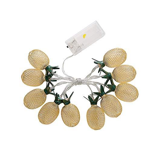 Autotipps LED Metall Hohl Ananas Urlaub Dekoration Licht String Home Ananas Dekoration Beleuchtung Saiten