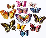 Yogogo Art Stickers muraux - 12pcs/18pcs Papillon 3D Chambre Design Decal magnétique - Home Decor