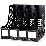 SHRBI 4 Tier Plastic Magazine Frame File Holder Office Desk Table Top Book Shelf Organizer Magazine Paper Organizer