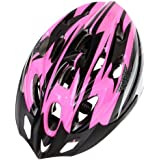 Vdealen Cycling Bicycle Adult Bike Handsome Carbon Helmet with Visor (Pink)