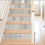 Stickers Escalier Décoration De Style Musulman 13Pcs / Set Autocollant Escalier Style Arabe Tuile Maison Escalier Autocollant Restaurant Magasin...