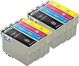 Pack de 8 Skia Cartouches d'encre Epson 27 XL T 2711 2712 2713 2714 Workforce WF 3620 DWF 3640 DTWF 7110 DTW 7610 7620 TWF
