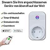 Smart Steckdose,Furado WLAN Steckdose WiFi Steckdose Arbeiten mit Amazon Alexa [Echo,Echo Dot] und...