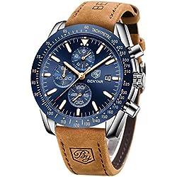 BY BENYAR - Orologio cronografo da uomo lusso impermeabile - Orologio da uomo