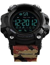 MX Kingdom - Reloj Digital Deportivo con brújula Impermeable de 50 Metros, Esfera Grande,