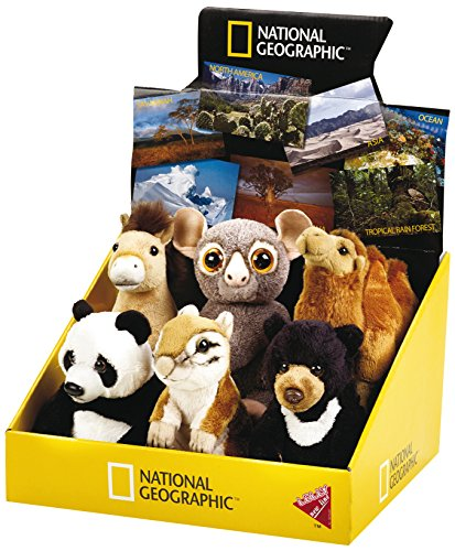 National Geographic von LELLY Display Baby Asien Tier Stofftier (6, Natur) -