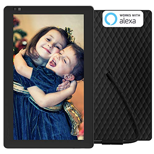 NIXPLAY Seed Digitaler Bilderrahmen WLAN 10 Zoll Breitbild W10B. Fotos & Videos per App oder Email an den Elektronischen Fotorahmen übertragen. IPS Display. Auto On/Off Funktion (Hu-Motion Sensor)