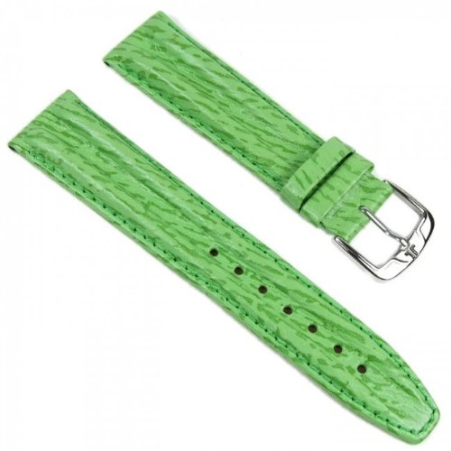 Ersatzband Uhrenarmband Leder Band Grün 20mm passend zu Jacques Lemans JL-06Gruen20S (Leder Passende)