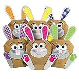 Papierdrachen 12 DIY Osterhasen Tüten - bunte Geschenktüten zu Ostern zum selber Befüllen – zum Verpacken von Geschenken für Kinder und Erwachsene