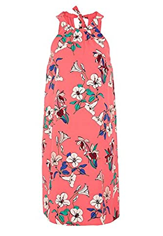 HALLHUBER Hängerkleid mit Schleifenverschluss A-Linie, knielang flamingo, 36