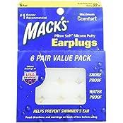 Macks Pillow Soft-Silikon-Ohrstöpsel, Value Pack, 6 pr