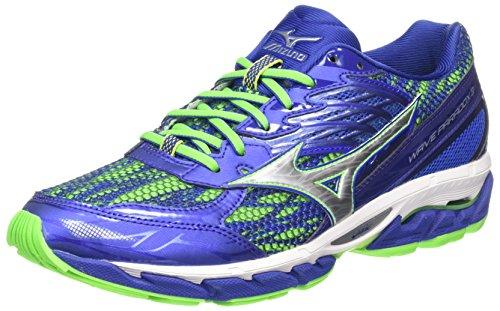 Mizuno Wave Paradox 3, Zapatillas de Running para Hombre, Azul (Surf the Web/Silver/Green Gecko), 46 EU