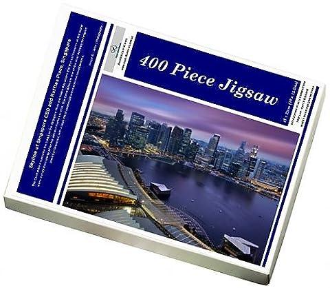 Photo Jigsaw Puzzle of Skyline of Singapore CBD and Raffles