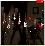TEBAISE Sticker Weihnachtsdeko Weihnachtssticker Merry Christmas Schaufensterdekoration Wandaufkleber Fenster Weihnachten Fensterdeko Aufkleber Wandtattoo Aufkleber Dekoration (L)