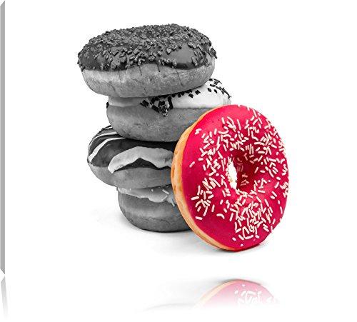 doux-donuts-noir-blanc-taille-120x80-sur-toile-xxl-enormes-photos-completement-encadrees-avec-civier