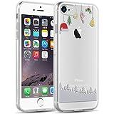 iPhone 8, iPhone 7 Hülle | JAMMYLIZARD Transparente Schutzhülle Gel Weihnachts-Sketch Back Cover Case aus Silikon, Hängende Dekoration