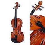 Bolange 1/8 Größe akustische Violine Geige Kit Set Rotlicht für Studenten Starter Anfänger Urlaubsgeschenk