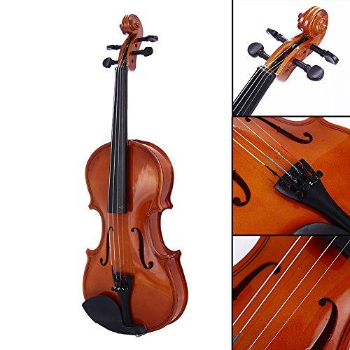 Bolange 1/8 Größe akustische Violine Geige Kit Set Rotlicht für Studenten Starter Anfänger Urlaubsgeschenk (E-geige-starter-kit)