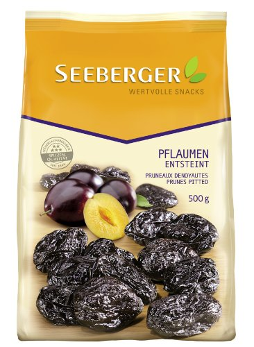 Seeberger Pflaumen entsteint, 4er Pack (4 x 500 g Packung)