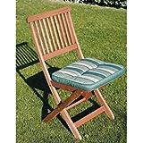 Cojin silla 43x43x5 rayas verde/blanco ty511=p005