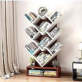 DGLIYJ Baum-förmiges Bücherregal einfache Ablage Regal Wohnzimmer Schlafzimmer Bücherregal Landung (Farbe : Teak Color)