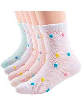 Baby Jungen Madchen Socken Kindersocken 5er Set Baumwolle Sommer Punkte Socken 1-12 Jahre