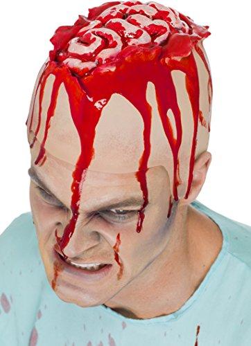 Smiffys Unisex Offenes Gehirn Kappe, Latex, One Size, Hautfarben, 45324
