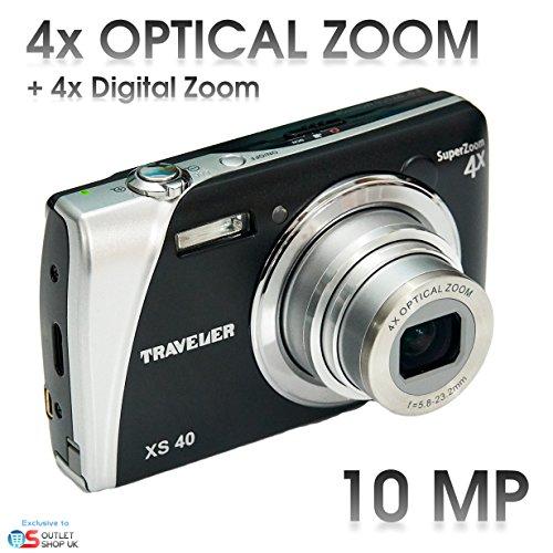 "Traveler XS40, 10 Megapixel Digital Kamera 4x Zoom, VGA Video, 3.0"" full color TFT LCD - Schwart (Teil Mb 32)"