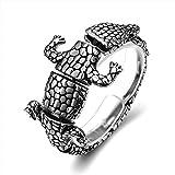 Aienid Bettelarmband Edelstahl Armband Für Männer Tier Krokodil Silber