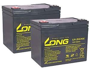 Batterie fauteuil roulant elektromobil dietz varga 6 km/h 2 x 41Ah ploMB 12 v compatible 36 ah