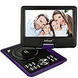 ieGeek 11,5 Zoll Tragbarer DVD Player, 5 Stunden Akku, Auto Kopfstütze Monitor, Unterstützung USB / SD Karte, Direktes Spielen in Formate MP4 / AVI / RMVB / MP3 / JPEG, Lila