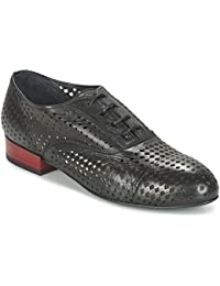 CAFè NOIR EB231 nero scarpe donna francesina forata lacci pelle 7446d0894e3