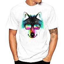 Sky Celebrate For The Summer !!! Camiseta de La Manera de Los Hombres Lobos Impresa Tees Shirt Short Sleeve T Shirt Blouse M~L4