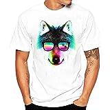 UOMOGO T-Shirt da Uomo Moda Casuale Maniche Corta Girocollo T Shirt Stampa Digitale Camicetta Maglietta da Uomo Camicie da Uomini Tees Manica Lunga Tops Maniche Corte Polo-Animal