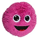 Objektkult Rundes Plüsch Deko-Kissen mit Lustigem Gesicht