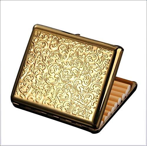 ui, tragbar, ultradünn, reines Kupfer, Metall, für Herren, Antidruck-Zigaretten Box (hält 20 Stück) ()