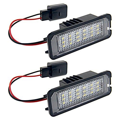 2x 18-LED SMD Kennzeichen Leuchte Lampe Nummernschild Beleuchtung Kennzeichenbeleuchtung