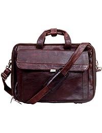 Apoorva Geniune Leather Bag Messenger Bag School Bag Official Bag brown Briefcase Leather Cross-body Bag For... - B076FSZBQ3