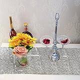 30x180 cm Sliver Blush Paillettes Tissu Table Runner Nappe De Fête De Mariage Décoration
