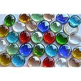 Bazare Masud e.K. - Piedras de mosaico decorativas (diseño transparente, 17–20mm, multicolor, aprox. 130 g) -