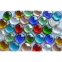 Bazare Masud e.K. 30 Unidades. Piedras Decorativas, Transparentes, 17–20mm, Multicolor, Aprox. 130g.