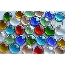30 unidades. Piedras decorativas, transparentes, 17–20mm, Multicolor, aprox. 130g.