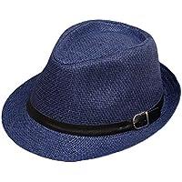 Sannysis Sombreros de Paja Playa Sombrero del Sol Gorro de Viaje Verano  sombrero de protección UV a9d540cfa9b