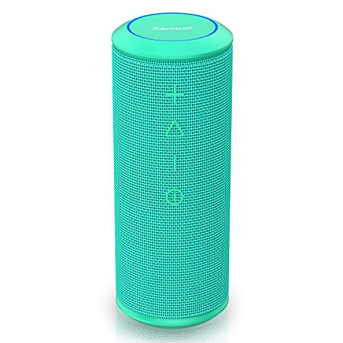 Wireless Bluetooth Lautsprecher Subbass Leistungsstarker 24 Watt Wireless 360° Sound Bluetooth Speakers V4.2 mit Wasserfest Stoßfest Mikrofon und Reinem Bass Zamkol (Petrol)