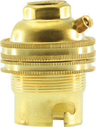 Legrand leg97100Messing Sockel mit Ring und Kabel Exit für Bajonett Glühbirne B22 (Bajonett-sockel)
