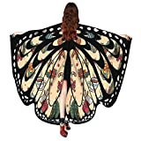 VEMOW 2018 Neue Mode Frauen Weihnachten Karneval 168 * 136CM Flügel Kostüm Schmetterling Flügel Schal Schals Poncho Kostüm Zubehör (X1-Beige, 168X136CM)